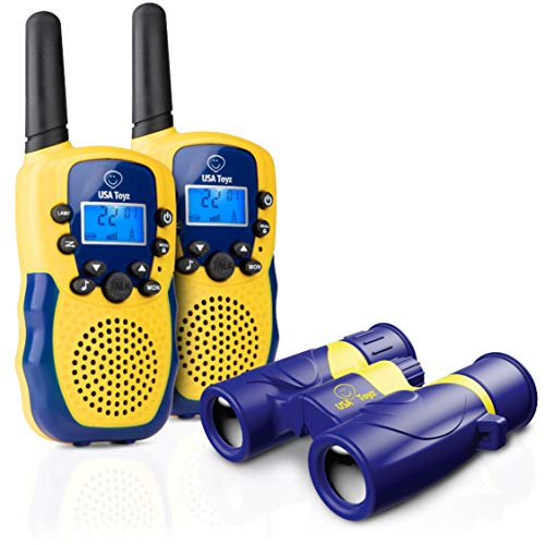 USA Toyz Kids Walkie Talkies with Binoculars - Vox Box Voice Activated Long Range Walkie Talkie Set w/ Binoculars for Kids, Outdoor Toys for Boys or Girls