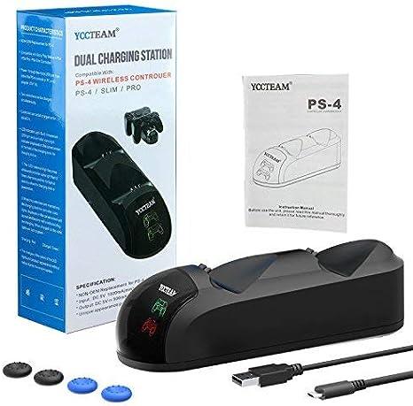 Amazon.com: Y Team XWN-PS4-002 Y - Cargador para mando de ...