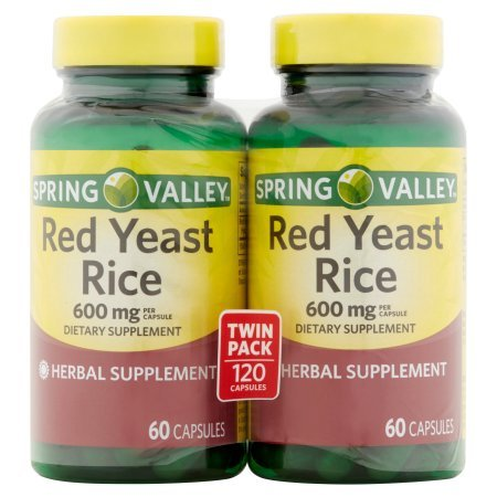 Spring Valley - Red Yeast Rice 600 mg, 120 Capsules 2 per serving