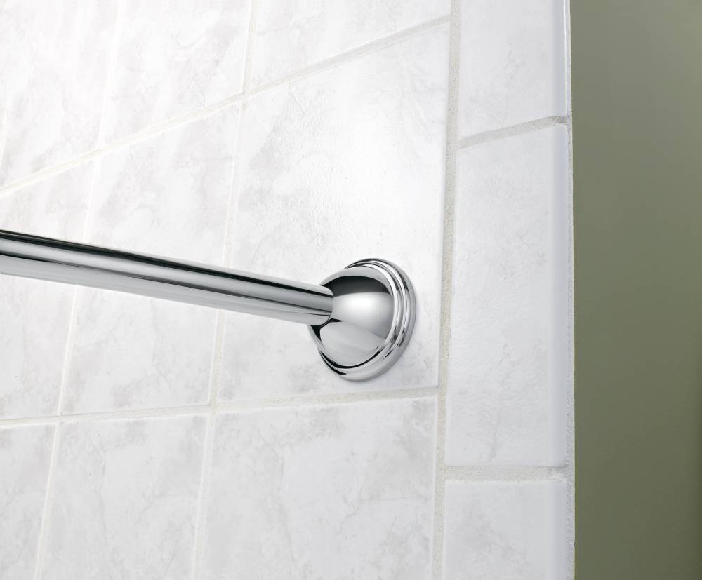 Amazon.com: Moen CSR2166CH 72 in. Fixed Length Curved Shower Rod ...