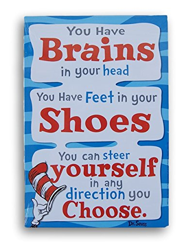 Dr. Seuss 2-Sided Reading Poster - You Have Brains in Your Head/Oh, The Things You Can Find (8.5 x 12.5)]()