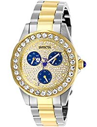 Women's Angel Quartz Watch with Stainless Steel Strap, Two Tone, 18 (Model: 28460)
