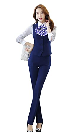 Amazon.com  Oncefirst Women s 2 Piece Working Dress Jacket Pants Suits  Blue  Clothing c706b570d1