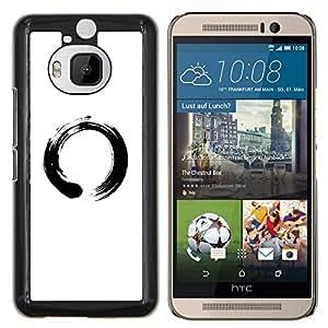 YiPhone /// Prima de resorte delgada de la cubierta del caso de Shell Armor - Símbolo chino del Círculo - HTC One M9Plus M9+ M9 Plus