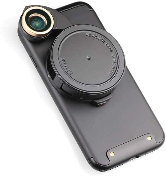 Ztylus 4-en-1 revólver Lente Kit de cámara de Smartphone para Apple iPhone 7: Super Gran Angular, Macro, Ojo de pez, polarizador Circular, diseño de cámara, teléfono, Foto y vídeo: Amazon.es: Electrónica