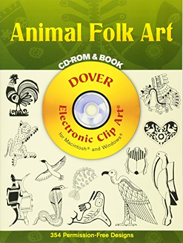 Animal Folk Art CD-ROM and Book (Dover Electronic Clip Art)