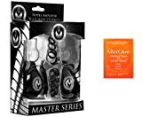 Bundle-2 Items: Master Series Pyramids Nipple Amplifier Bulbs w/O Rings - Black, 5-Pack Toy Cleaner 3295X