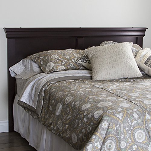 South Shore 54/60'' Vintage Headboard, Full/Queen, Dark Maho
