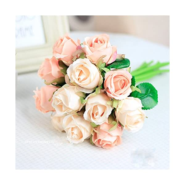 Meiliy-1-Bunch-12-Pack-Fake-Floral-Rose-Silk-Flower-Hand-Tied-Bouquet-Artificial-Flower-Home-Hotel-Office-Wedding-Party-Garden-Craft-Art-Decor-10-Inch