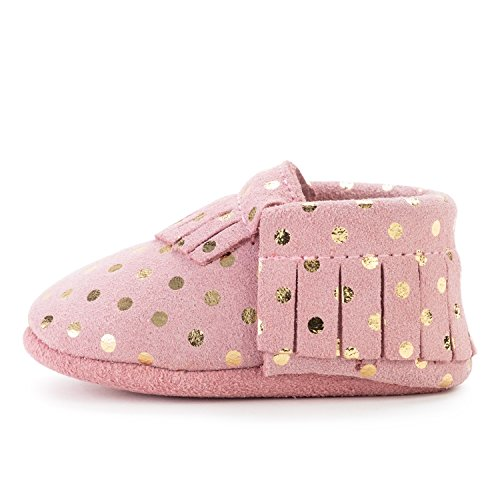 BirdRock Baby Moccasins - 30+ Styles for Boys & Girls! Every Pair Feeds a Child (US 5.5, Confetti)
