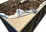 "Tools & Hardware : Countertop Paint? NO Peel and Stick Counter top Transformation Not Your Grandma's Contact Paper Granite Laminate Vinyl Dark Emperador Marble Look 36""x10 ft"