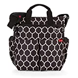 Skip Hop Duo Signature Carry All Travel Diaper Bag Tote with Multipockets, One Size, Onyx Tiles