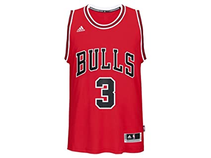 0013d4276 Outerstuff Dwyane Wade Chicago Bulls  3 NBA Youth New Swingman Road Jersey  Red (Youth
