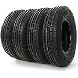 Motorhot 4x ST 225/75R15 Radial Trailer Tire 8 Ply D Load Range T/L Camper Tires 2257515 113/108 L
