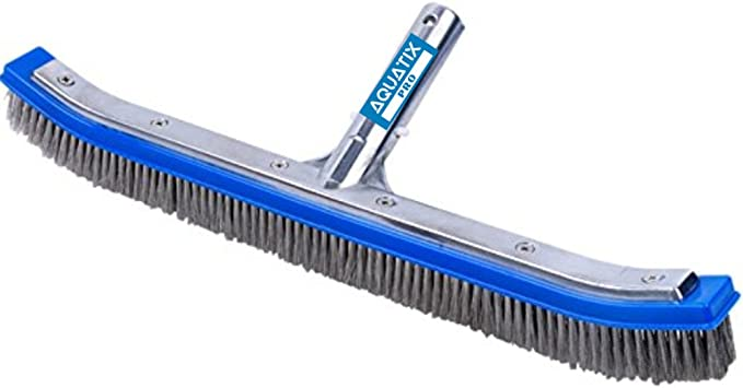 Fivе Расk Greenco Pool Brush Heavy Duty Aluminum Back Extra Wide 20 with EZ Clip and Strong Bristles for Cleaning Pool Floor /& Wall