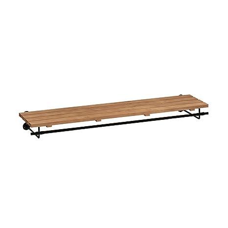 Amazon.com: LAXF-Estantería de pared con ganchos de madera ...
