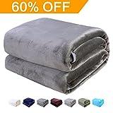 Flannel Fleece Blanket Midnight Silver Queen Lightweight Plush Microfiber Polar Fleec Bed Blanket Cozy Solid Color Couch Blanket by MAEVIS