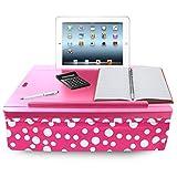 iCozy Portable Cushion Lap Desk With Storage - Pink Polka Dot