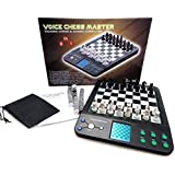 iCore Electronic Talking Chess Computer Set, Magnetic Travel Voice Chess Academy Boards Sets, Checkers Set Chessboard, Portab