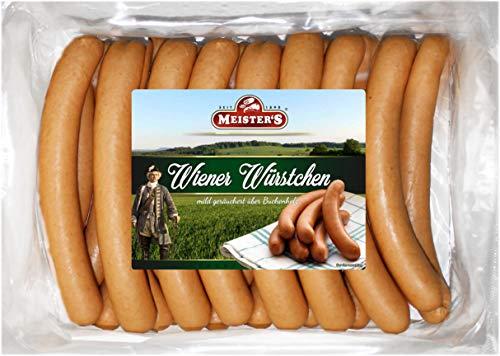 Wiener Würstchen frisch   traditionell Buchenholz geräuchert   Wurst geräuchert im Naturdarm Saitling   Würstel in…