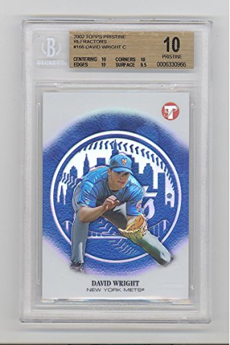 David Wright 2002 Topps Pristine Refractor RC #d New York Mets BGS 10 Pristine