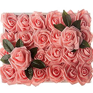 Artificial Flowers Rose Head for Wedding Brdial Bouquet Table Centerpiece Decoration 14