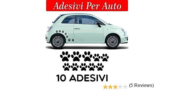 10 huellas adhesivas, pegatinas para coche, moto y cascos. 3 adhesivos de 5 x 5 cm, 7 pegatinas de 3 x 3 cm, para coche: Amazon.es: Coche y moto