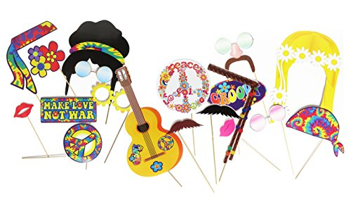Hippie Decor Party Photo Booth Props by Express Novelties Online (Vintage Circus Themed Centerpieces)