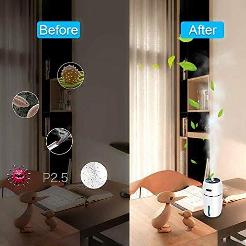 XuBa Mini humidificador de Aire USB difusor de Aroma Coche Aceite Esencial purificador de Aire con LED