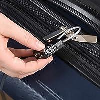 Basics negro Candado de combinaci/ón de 4 d/ígitos con cable homologado por la TSA paquete de 2