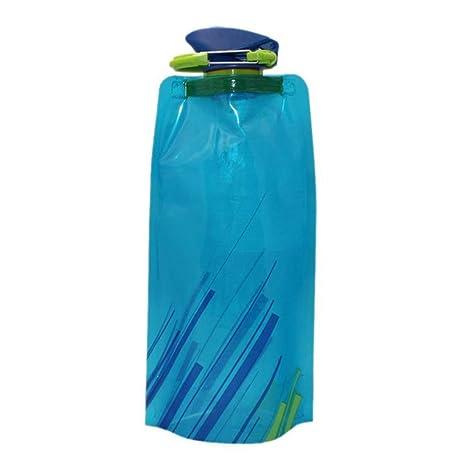 Ouken Exterior contenedor de Agua 700Ml BPA Libre Plegable plástico Agua Portador al Aire Libre Plegable