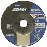 Norton Gemini Fast Cut Depressed Center Abrasive Wheel, Type 27, Aluminum Oxide, 5/8'' Arbor, 4'' Diameter x 1/4'' Thickness  (Pack of 25)