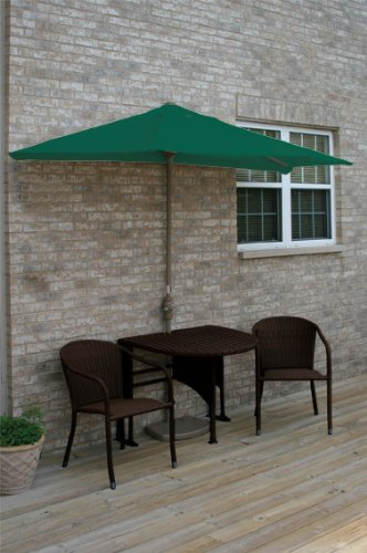 Terrace Mates Genevieve 42 in. 5 Pc Folding Sunbrella Set (Green)