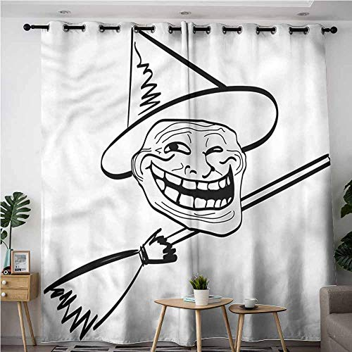Indoor/Outdoor Curtains,Humor Spooky Halloween Spirit,Hipster Patterned,W72x108L]()