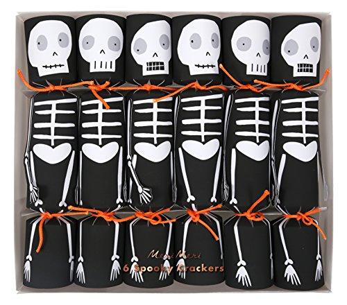 Meri Meri Spooky Skeleton Crackers 45-2939, Set of (Halloween Party Crackers)