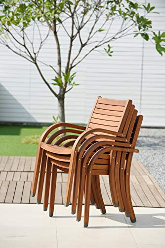 Amazonia Arizona 4-Piece Stacking Armchair