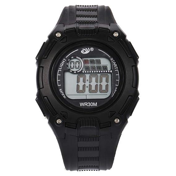 da7620b118c1 Reloj Deportivo Hombre Relojes Reloj Digital de acción Doble de 30 m.Hombres