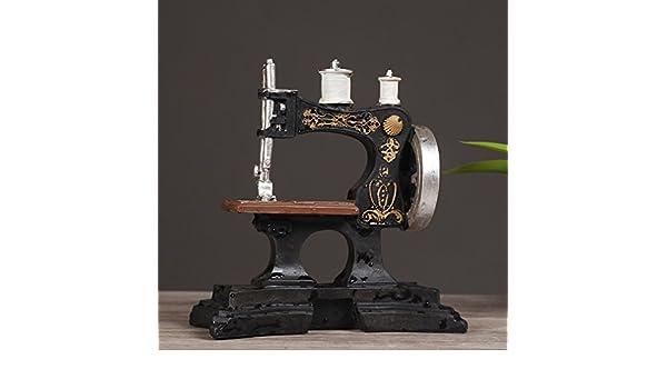 D&D DD Máquina de Coser Antigua Europea Adornos de Café Modelo de Resina Retro Tienda de Ropa Fotografía Decorativa Accesorios de la Foto,A: Amazon.es: ...