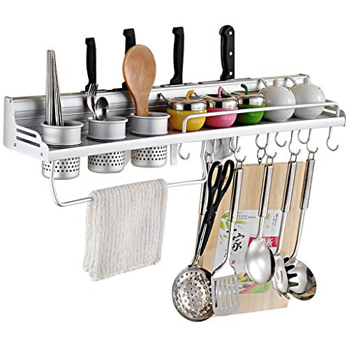 Table Rack Mounted Aluminum Pot - Tableware Storage Rack Dish Drainer Rack Holder Or Kitchen Shelf, Wall-Mounted Aluminum Art Storage Rack, Knife Pendant Kitchen Supplies Seasoning Spice Rack Cutlery Tableware Cup Storage Rack