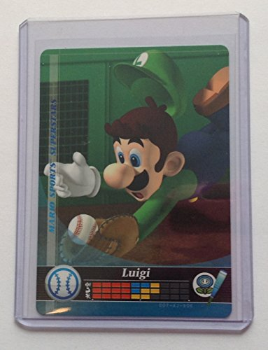 Luigi Baseball amiibo Card for Mario Sports Superstars (Baseball Card Superstars)