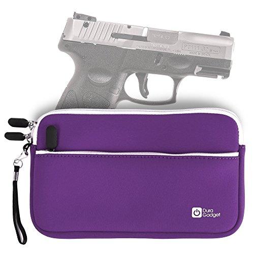 DURAGADGET Taurus PT111 Millennium G2 Handgun Case - Purple 7 Inch Water & Scratch-Resistant Neoprene Zip Case for Taurus PT111 Millennium G2 Pistol - Stay Protected in Style!