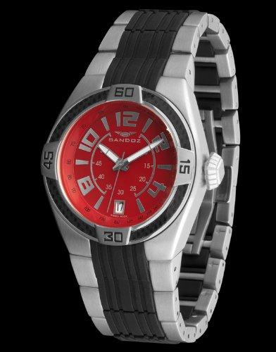 Sandoz 71553-07 - Reloj Fernando Alonso Caballero Rojo/Negro: Amazon.es: Relojes
