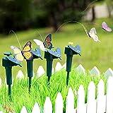 Gold Happy Vibration Solar Power Flying Butterfly Dancing Flying Fluttering Butterflies Garden Decoration