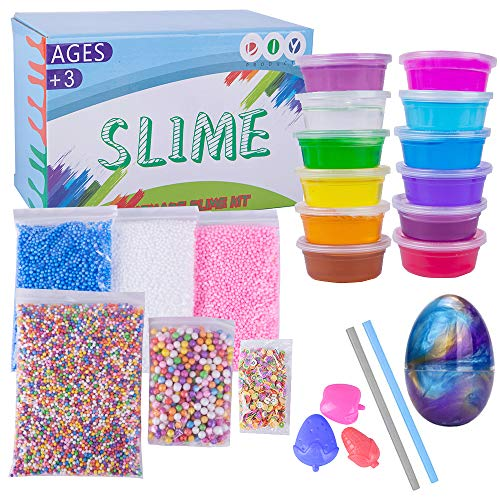 Crystal Slime Putty Toys Slime Kit Sets - 24 Packs Stress Reliever Toys for Kids and Adults