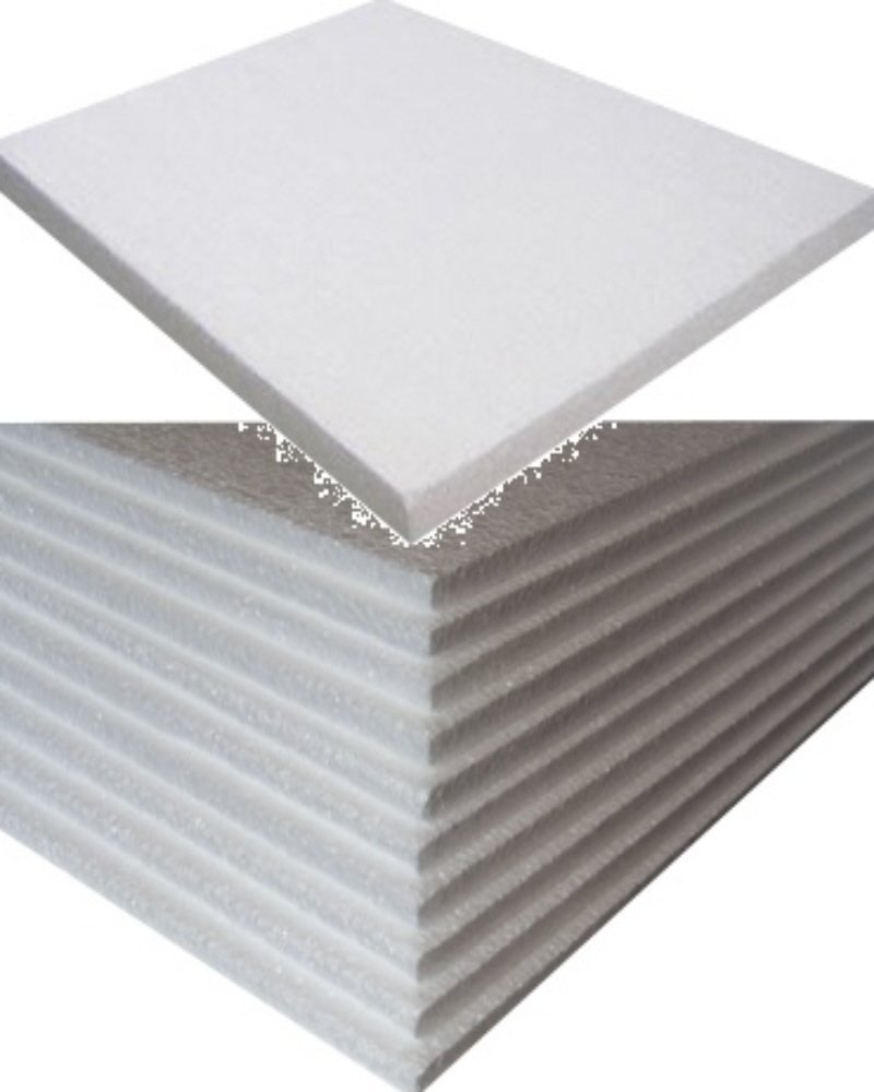 50 Small White Rigid Polystyrene Foam Sheets Boards Slabs - Size 600mm Long x 400mm Wide x 10mm Thick - EPS70 SDN Floor Wall Insulation Sheeting Packing Void Loose Fill Filler Protective Packaging