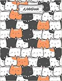 Notebook: Cat notebook | Lined Writing Journal | 110 Pages | A4 Size (8.27 x 11.69 inches) | Agender Pride Kawaii Cats | Cute LGBTQ Graphic Anime Art Notebook Cover