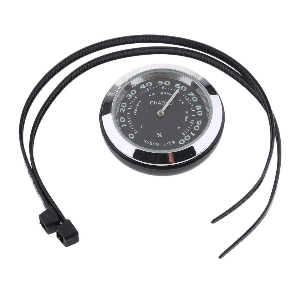 Homyl Universal Motorcycle Bike Dial Handlebar Clock//Thermometer//Hygrometer Black Clock