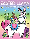 Easter Llama Coloring Book: of Spring Flowers and