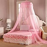 Bluelans Pink Mosquito Net Princess Bed Canopy Polyester, Fly Insect Protection, 60cm x 280cm x 850cm