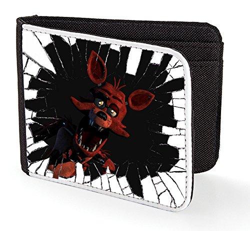 Five Nights at Freddy's Jungen-/Herren-Brieftasche, Motiv: Foxy mit zerbrochenem Glas